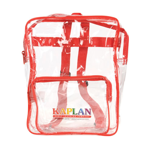 Products for parents families kaplan early learning small clear take home backpack set set of 10 publicscrutiny Gallery