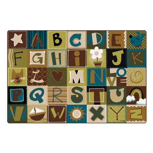 Alternate Image #2 of Nature Alphabet Blocks Carpets