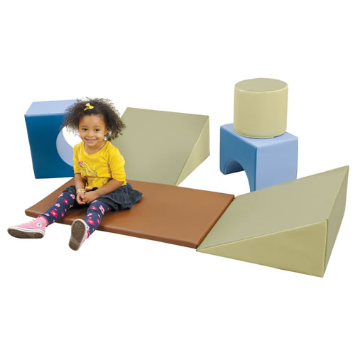 Gym Puzzle Blocks and Mat