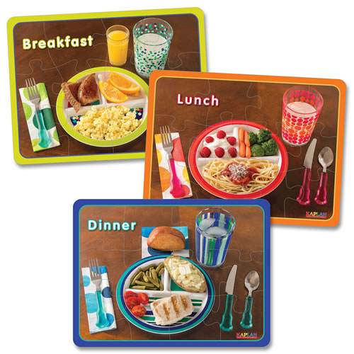 Healthy Meals Puzzles - Set of 3