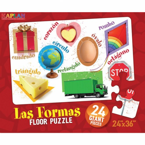 Alternate Image #1 of Spanish & Bilingual 24-Piece Floor Puzzles