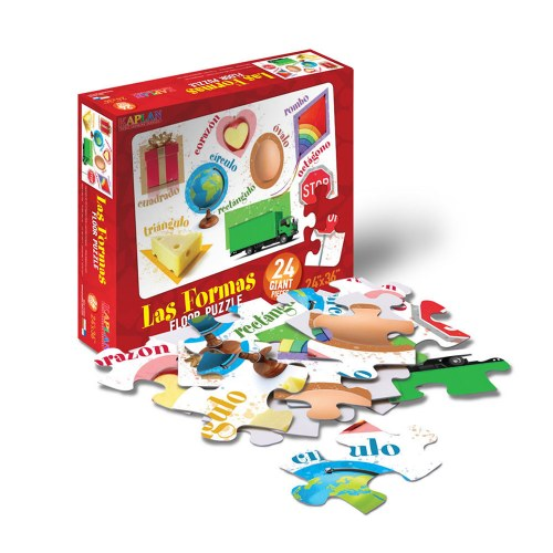 Alternate Image #3 of Spanish & Bilingual 24-Piece Floor Puzzles