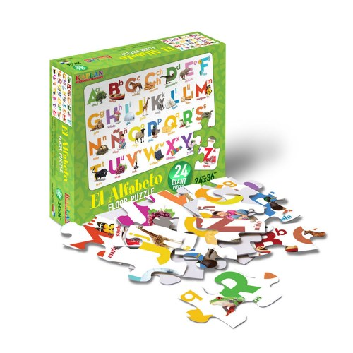 Alternate Image #6 of Spanish & Bilingual 24-Piece Floor Puzzles