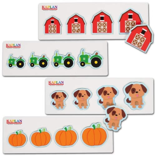 Size and Sequence Farm Puzzles - Set of 4
