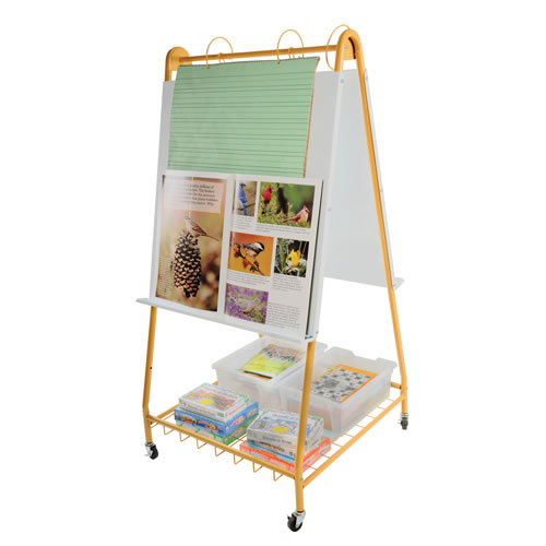 Alternate Image #2 of Mobile Teaching Flip Chart Writing Easel