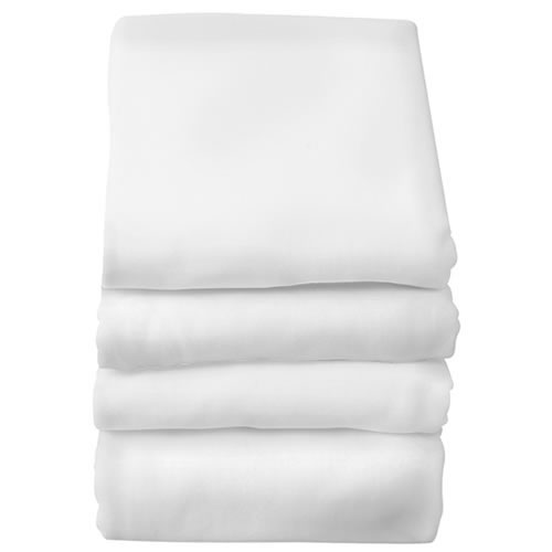 Full Size Crib Fitted Sheets (6 Pack) - White