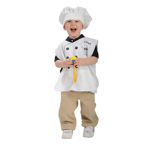 Toddler Pretend Play Chef Vest & Hat