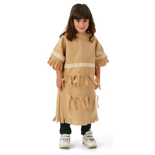 Multi Ethnic Ceremonial Costume Native American Girl