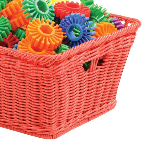 Alternate Image #3 of Small Plastic Wicker Basket - Each