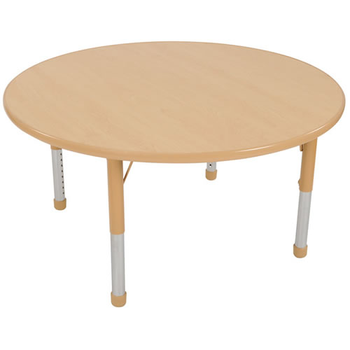 "Nature Color Chunky 48"" Round Tables (Seats 4)"