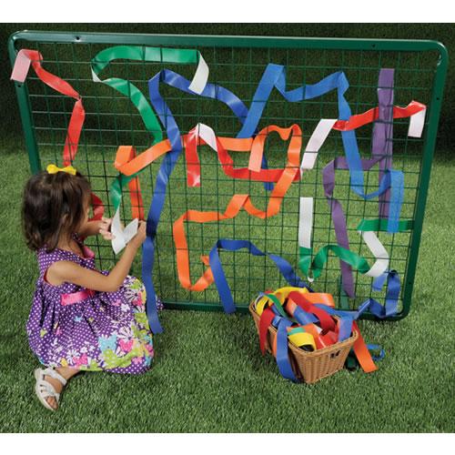 Outdoor Classroom Ideas Kindergarten ~ Outdoor weaving frame
