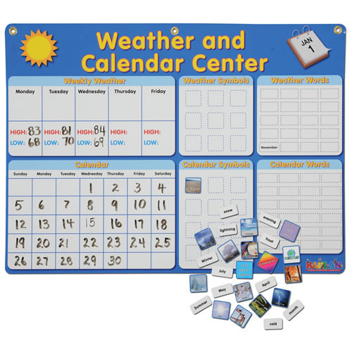 Magnetic Calendar and Weather Set