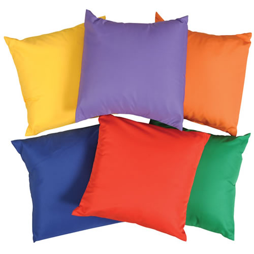 Primary Colors 12 Pillows Set of 6