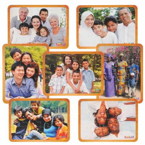 Families From Around the World Puzzle Set of 7