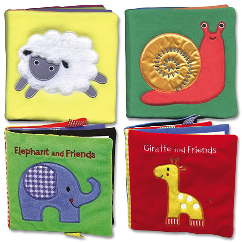 Animals All Around Cloth Book - Set of 4