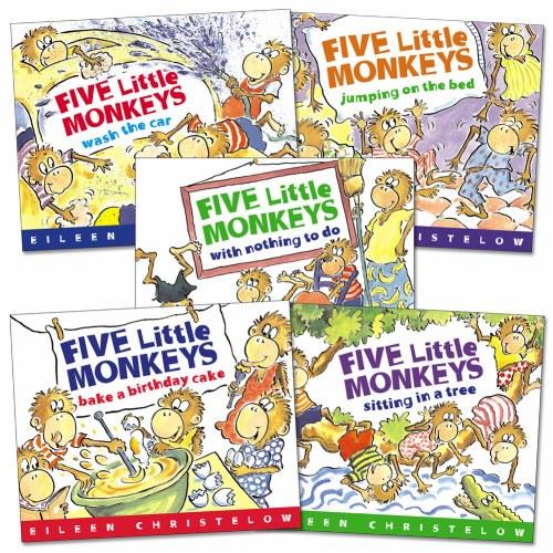 Marvelous Five Little Monkeys Books Set Of 5 Personalised Birthday Cards Vishlily Jamesorg