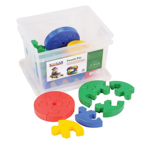 Puzzle Pie Manipulative Set - 30 Pieces