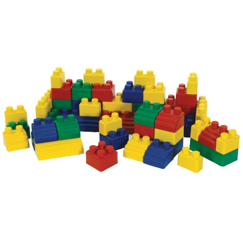 Colorful Flexible Soft Mini EduBlocks - 52 Pieces