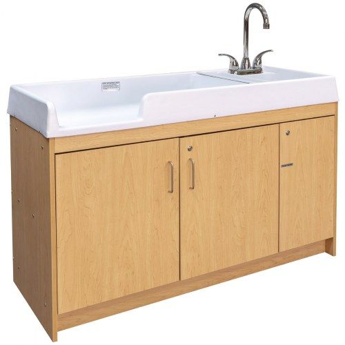 Changing Table with Right Hand Sink - Natural