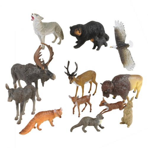 North American Wildlife - Set of 13 Animals