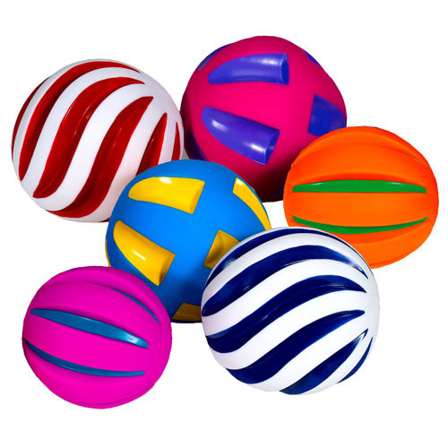 Tactile Squeaky Ball Set - Set of 6