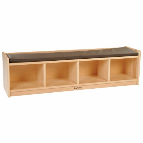 Premium Solid Maple 4 Section Bench Cubby