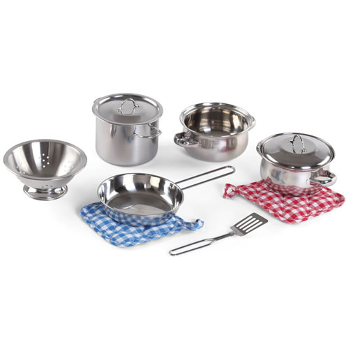 Stainless Steel Pots & Pans Set - 10 Pieces