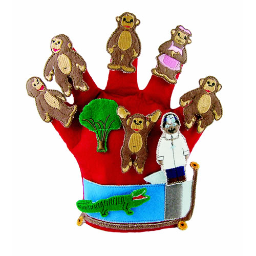 Monkeys Jumping on the Bed Storytelling Glove