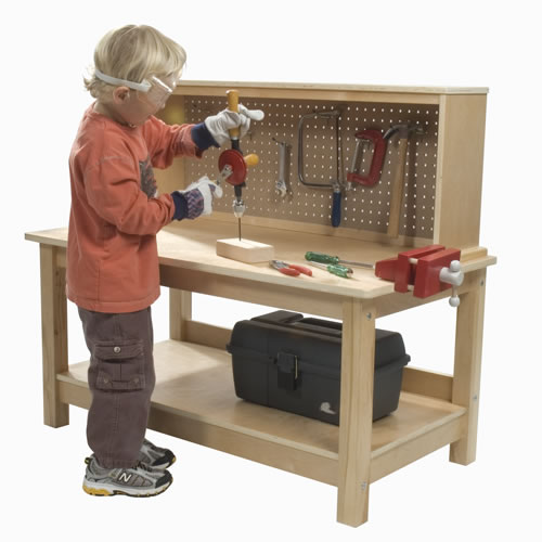 Wooden workbench with vise for Kaplan floor planner