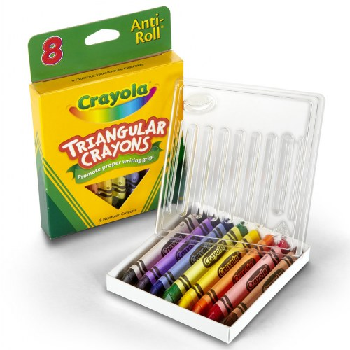 Crayola® 8-Pack Anti-Roll Triangular Crayons