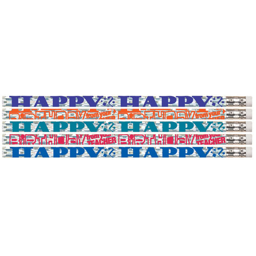 Happy Birthday from Teacher! Pencils (box of 12)