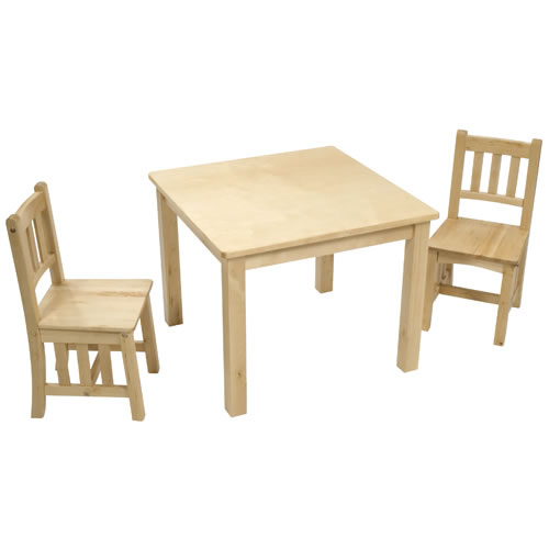Natural Mission Table with 2 Chairs - 4-5 yrs