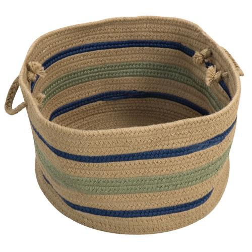 "Harwood Stripe Basket 18"" x 12"""