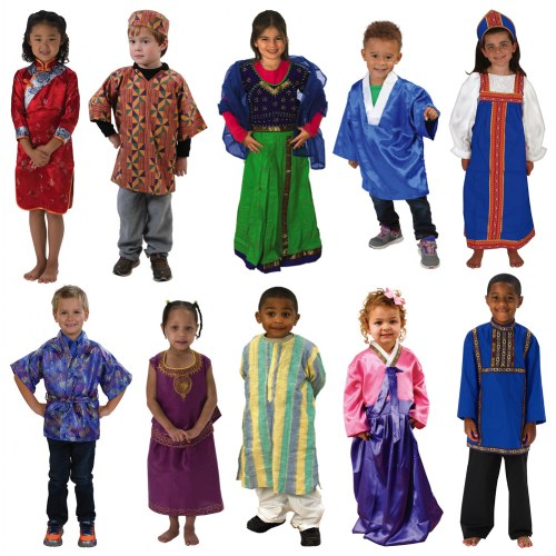 Cultural Clothing Outfits (Set Of 10