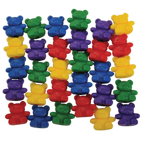 Papa Bear Colorful Counters - Set of 30