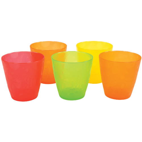 colorful drinking cups set of 10