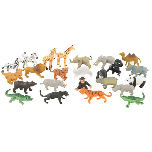 Zoo Animals and Babies Mini Set - Set of 24