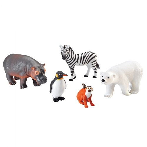 Jumbo Zoo Animals (set of 5)