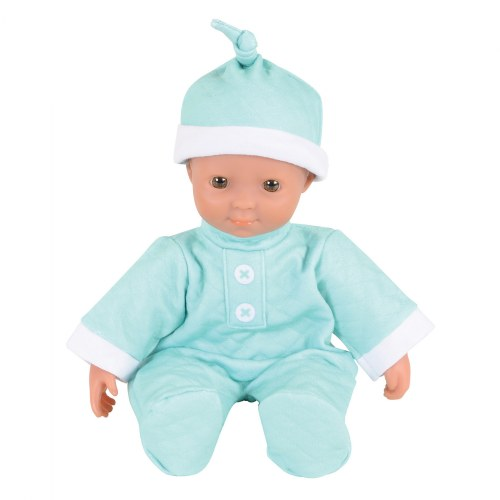 "Alternate Image #1 of Soft Body Dramatic Play 11"" Dolls with Romper and Cap"