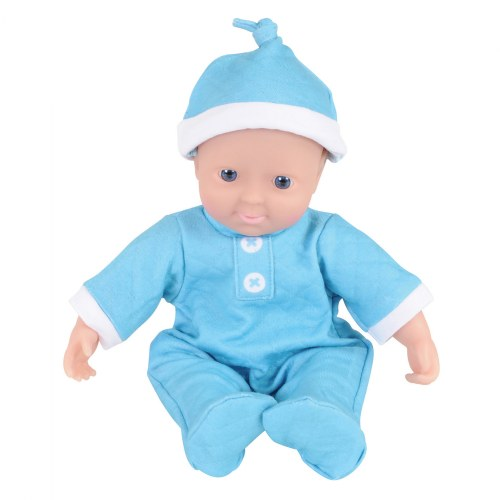 "Alternate Image #2 of Soft Body Dramatic Play 11"" Dolls with Romper and Cap"