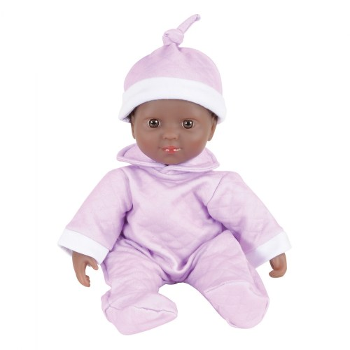 "Alternate Image #3 of Soft Body Dramatic Play 11"" Dolls with Romper and Cap"