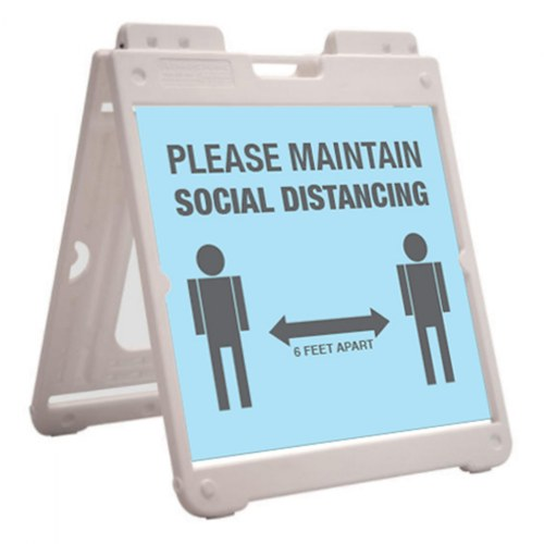 Alternate Image #1 of SimpoSquare™ A Frame Sign Holder