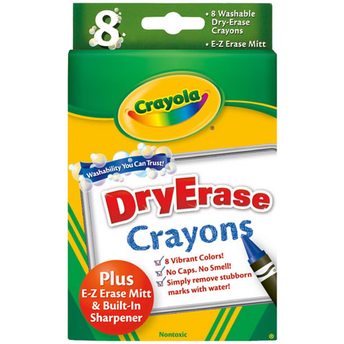 Crayola® Washable 8-Count Dry Erase Crayons