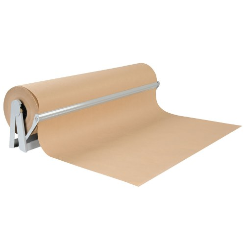"36"" x 1000' Natural Kraft Paper Roll"