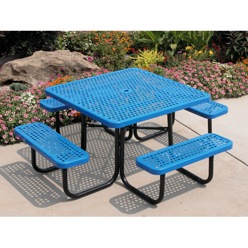 Square Portable Table Perforated