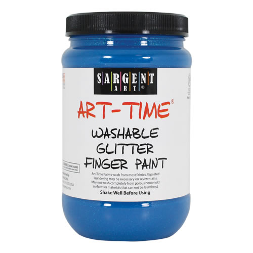 Washable Glitter Finger Paint