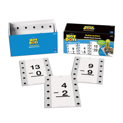 Alternate Image #1 of Subtraction Hot Dots® Flash Cards