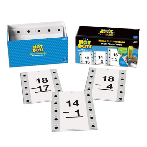 Alternate Image #1 of More Subtraction Hot Dots® Flash Cards