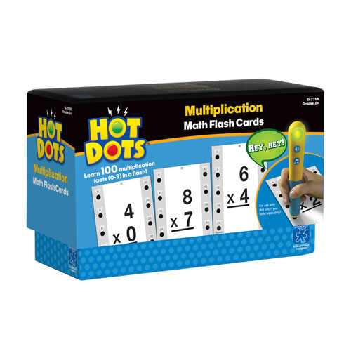 Multiplication Hot Dots® Flash Cards