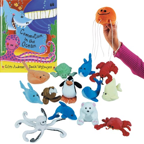 Commotion In The Ocean Book And Puppet Set